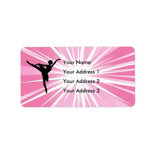 Pink Star Ballerina Label