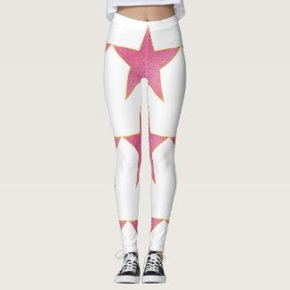 Pink star leggings