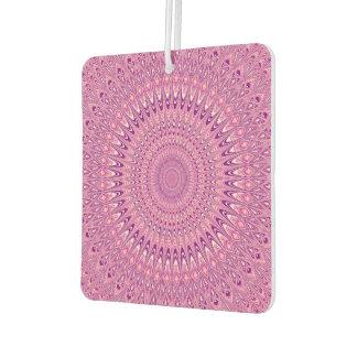 Pink star mandala car air freshener
