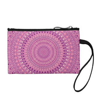 Pink star mandala coin purse