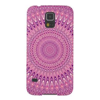 Pink star mandala galaxy s5 cover