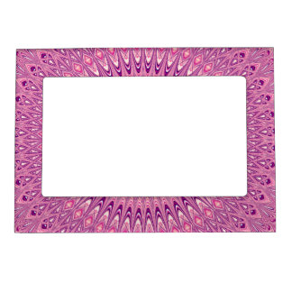 Pink star mandala magnetic picture frame