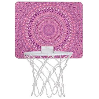 Pink star mandala mini basketball hoop