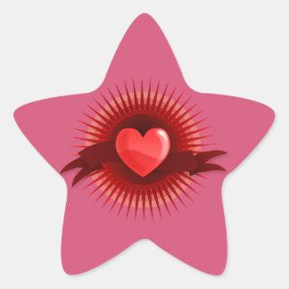 Pink Star Star Sticker
