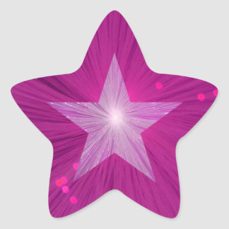 Pink Star sticker star shape