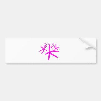 pink starfish bumper sticker