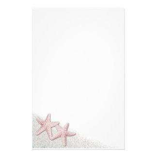 Pink Starfish stationery