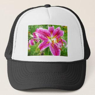 Pink Stargazer Lilly Trucker Hat