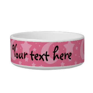 Pink stars and moons pattern bowl