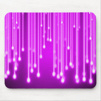 Pink stars falling mouse pad