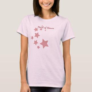 Pink Stars Maid of Honor T-Shirt