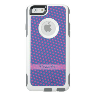 Pink stars on a blue background OtterBox iPhone 6/6s case