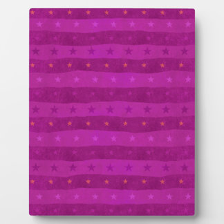 Pink Stars pattern 1 Photo Plaques