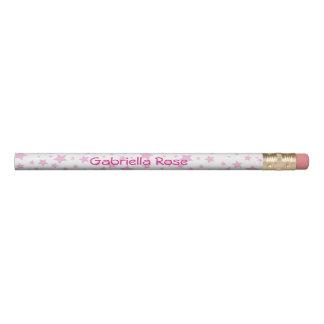 Pink Stars Personalised Pencil