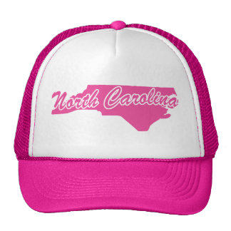Pink State North Carolina Mesh Hat