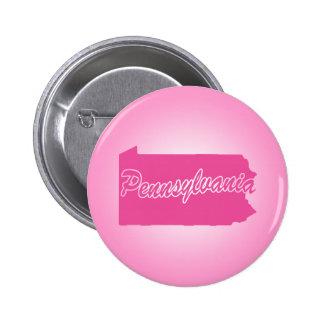 Pink State Pennsylvania 6 Cm Round Badge