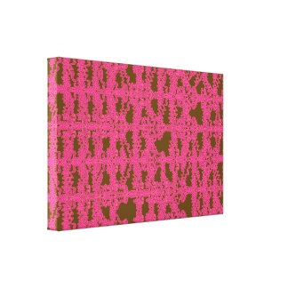 Pink Static Grid Wrapped Canvas Gallery Wrapped Canvas