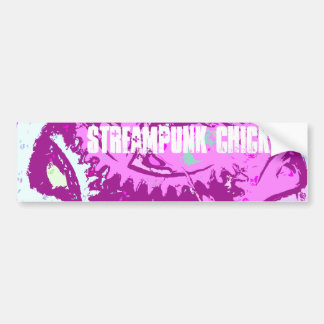 pink steampunk bumper sticker