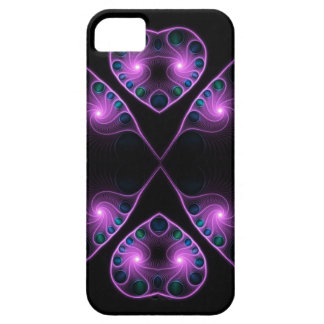 Pink Stereo Love Heart Fractal iPhone 5 Case