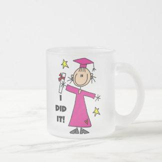 Pink Stick Figure Girl Graduate Coffee Mug