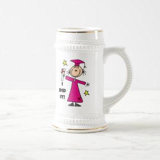 Pink Stick Figure Girl Graduate Mug