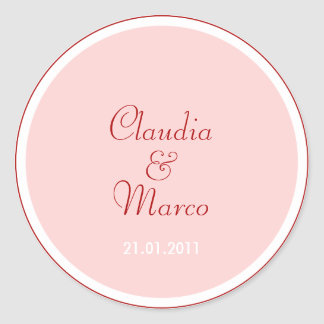 Pink stickers for hostess gifts o. Invitation