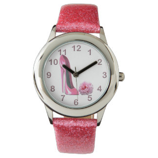 Pink Stiletto and Rose Watch