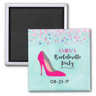Pink Stiletto Heel Bachelorette Party Magnet