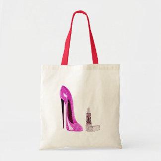 Pink Stiletto Shoe and Lipstick Art