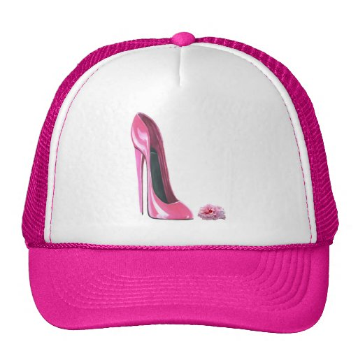 Pink Stiletto Shoe and Rose Hats