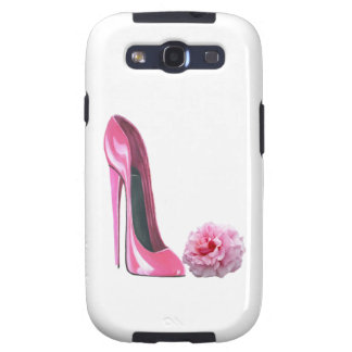 Pink Stiletto Shoe Art and Beautiful Rose Samsung Galaxy SIII Covers