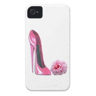 Pink Stiletto Shoe Art and Beautiful Rose iPhone 4 Covers