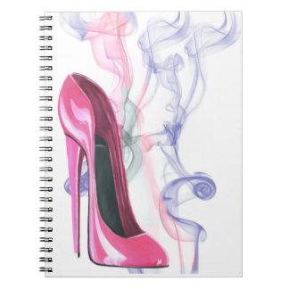 Pink Stiletto Shoe Art Notebook