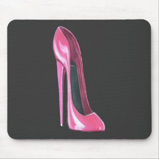 Pink stiletto shoe mouse pad