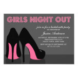 Pink Stiletto Shoes Girls Night Out Invites 13 Cm X 18 Cm Invitation Card