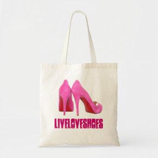 Pink Stilettos Shoe Addict Tote Bag