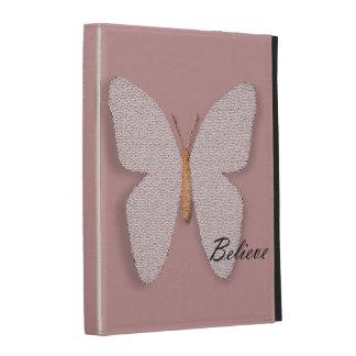 Pink Stone Believe Butterfly iPad Case