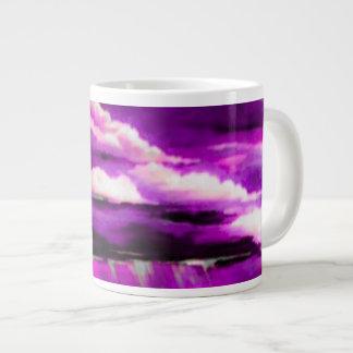 Pink Stormy Clouds Large Coffee Mug