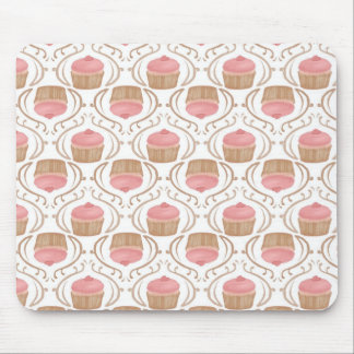 Pink Strawberry Champagne Cupcake Mousepad