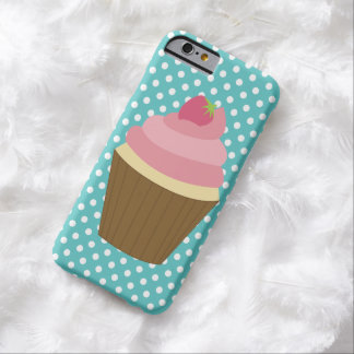Pink Strawberry Cupcake Illustration Barely There iPhone 6 Case
