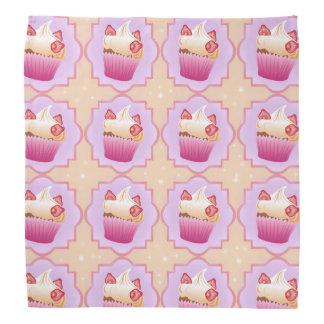 Pink strawberry cupcakes kerchief