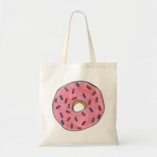 Pink Strawberry Frosted Donut Doughnut Tote