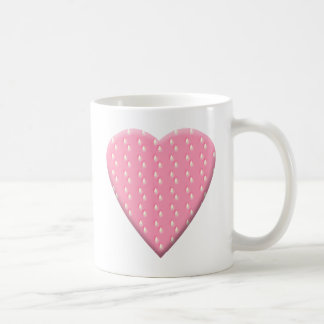 Pink Strawberry Heart. Coffee Mug