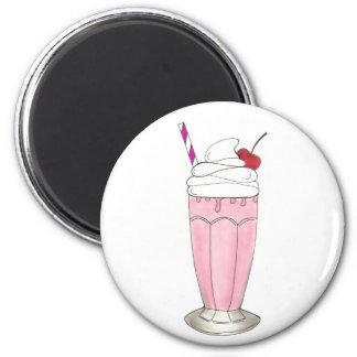 Pink Strawberry Ice Cream Shake Milkshake Dessert Magnet