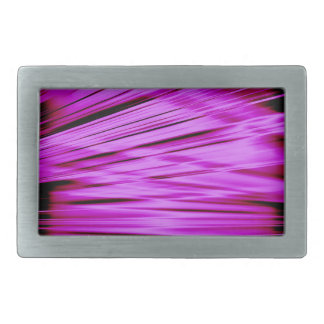 Pink streaked lines pattern rectangular belt buckles