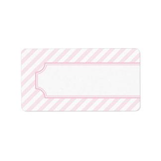 Pink Stripe Address Label