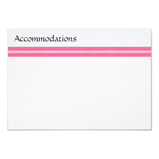 Pink Stripe Enclosure Card