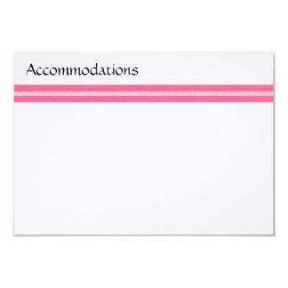 Pink Stripe Enclosure Card 9 Cm X 13 Cm Invitation Card