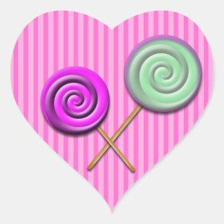 pink stripe lollipop sticker