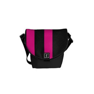 Pink Stripe Rickshaws Mini Messenger Bags